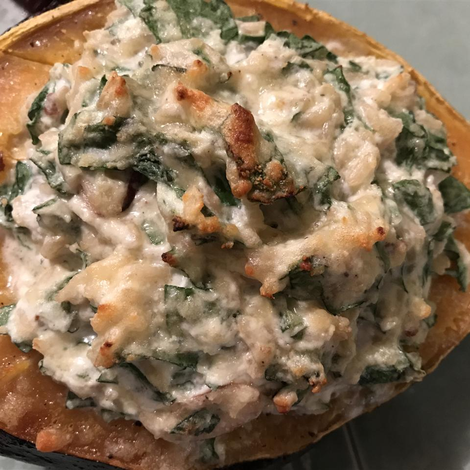 Acorn Squash with Spinach and Ricotta
