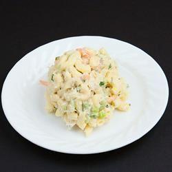 Grandma Bellows' Lemony Shrimp Macaroni Salad with Herbs