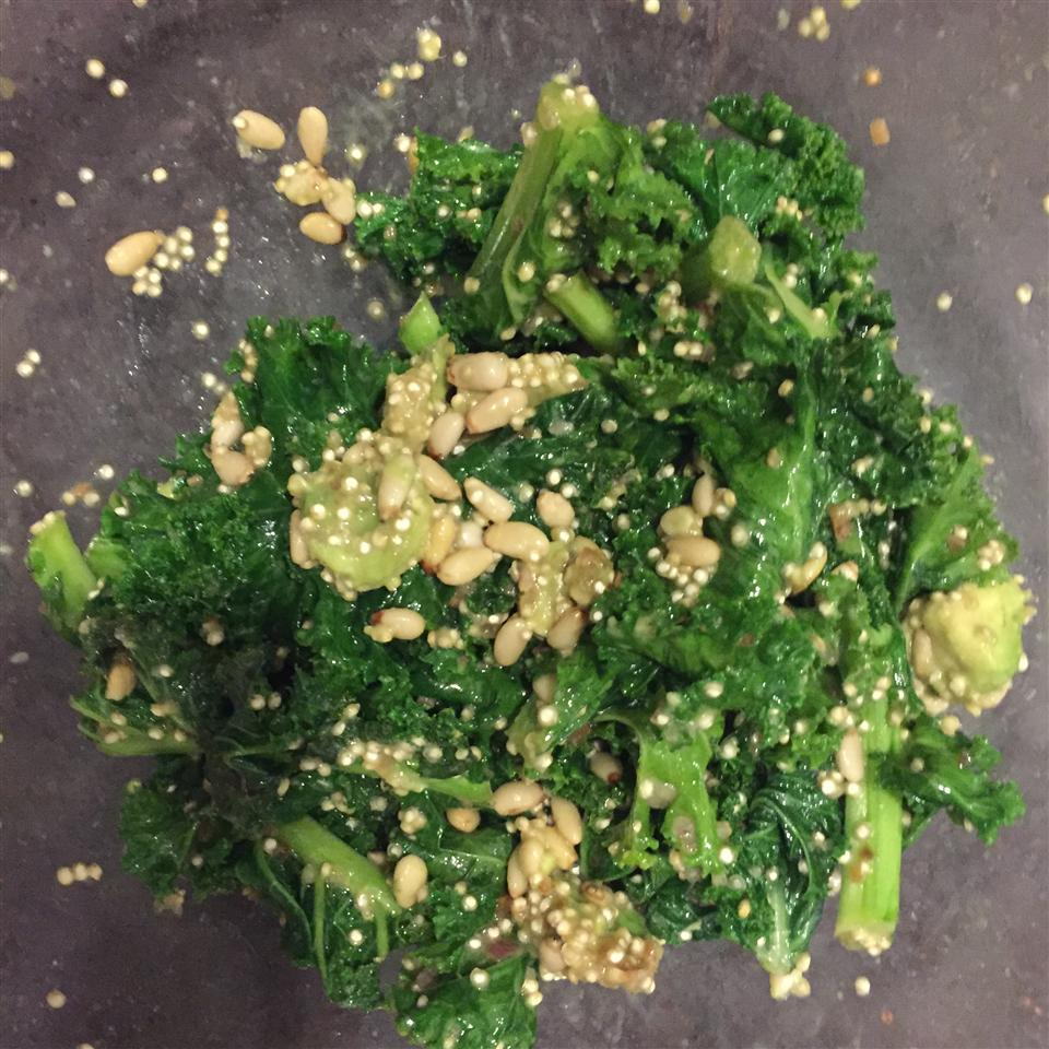 Quinoa, Kale, and Avocado Salad with Lemon Dijon Vinaigrette Dressing FifiAznan