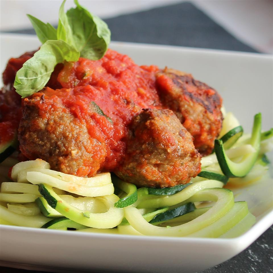 Simple Meatballs with Zoodles