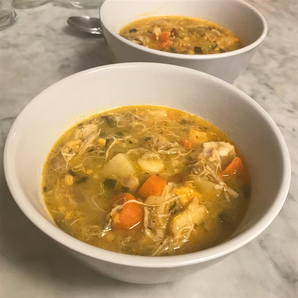 White Wine Chicken Soup fabeveryday