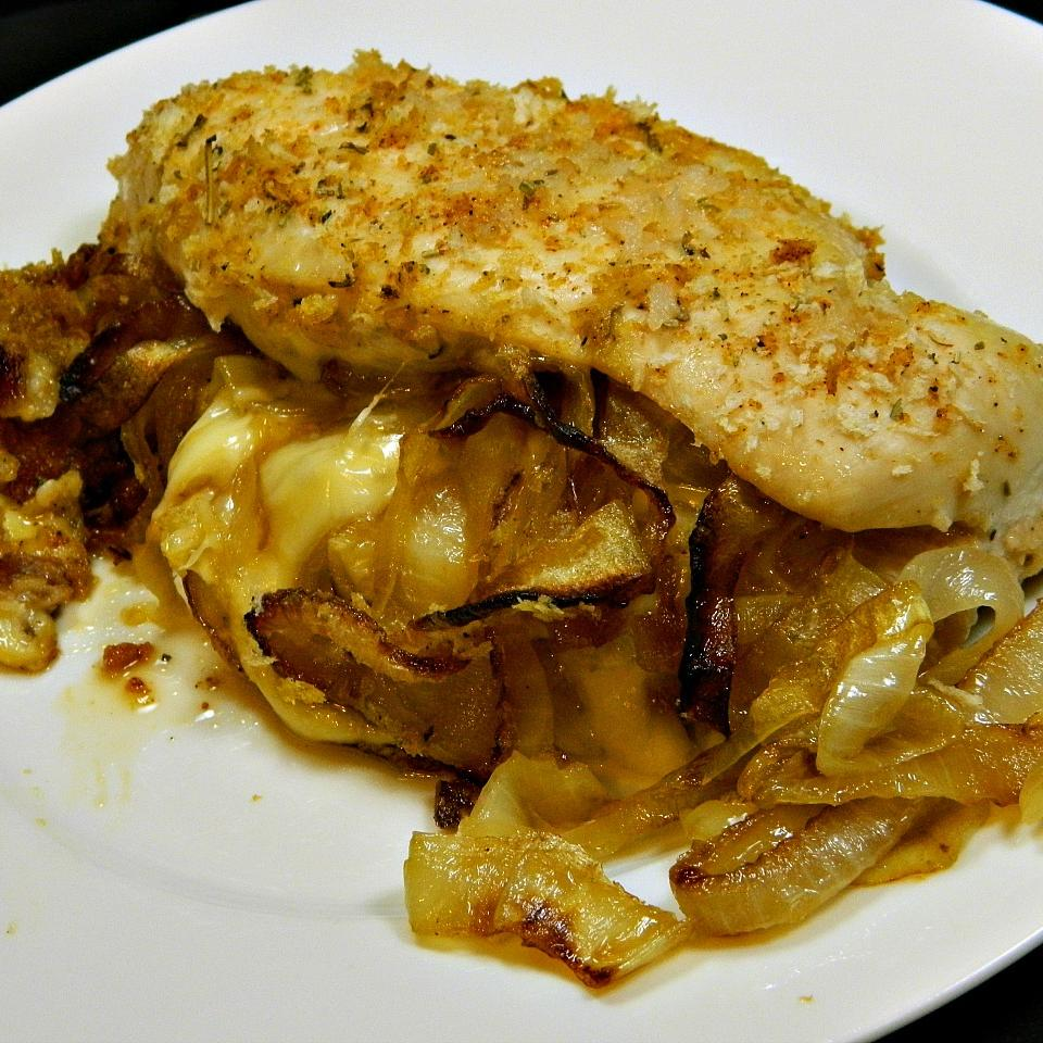 Caramelized Onion and Gouda Stuffed Chicken