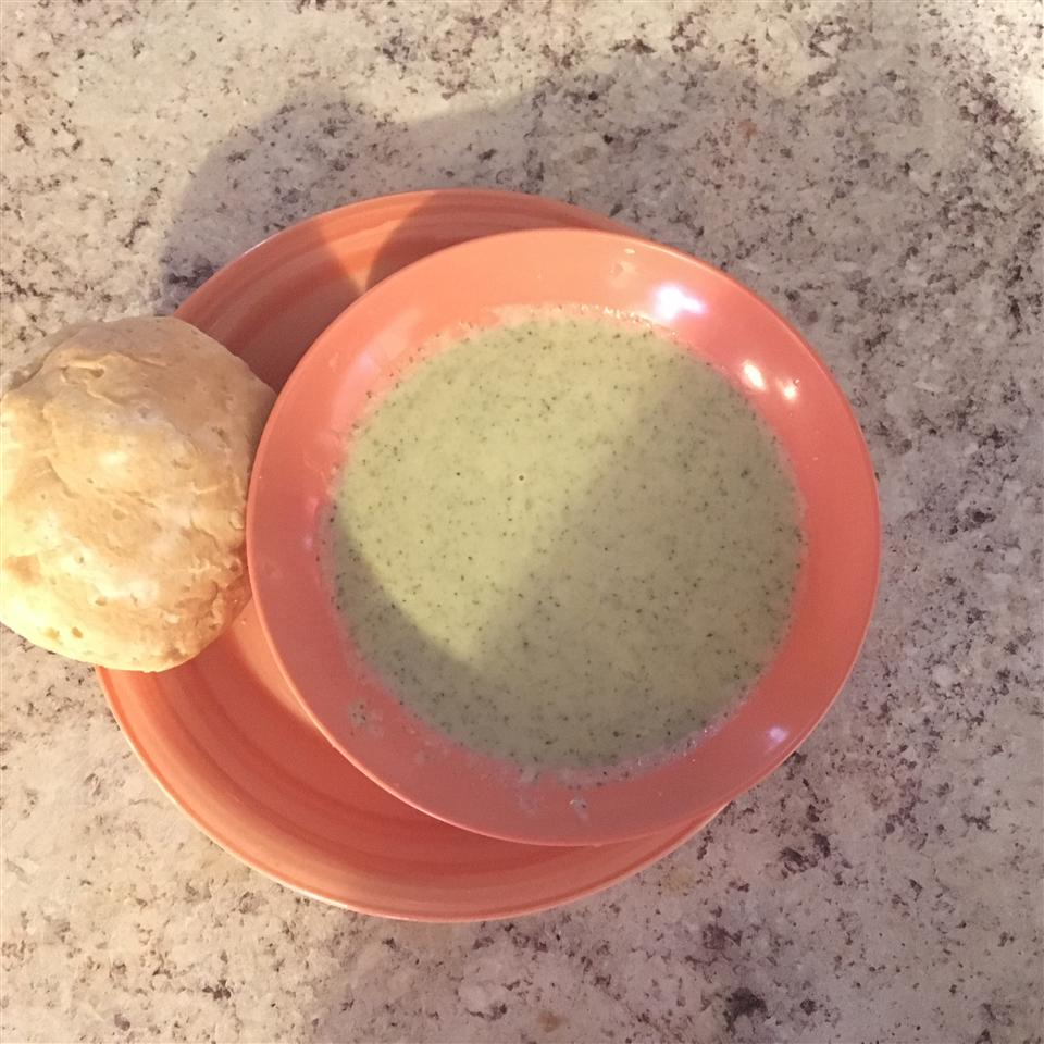 Simple Broccoli Soup with Cheddar Croutons Melvina