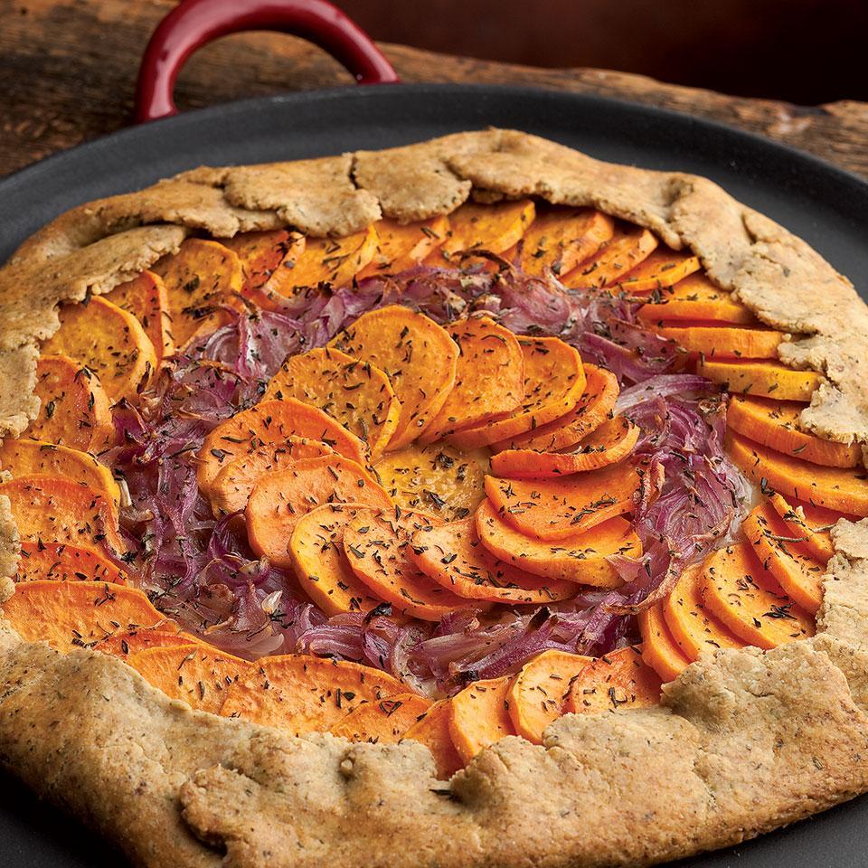 Sweet Potato, Red Onion & Fontina Tart EatingWell Test Kitchen