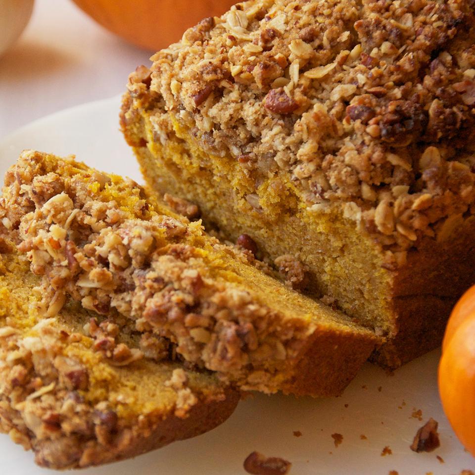 Walnut Streusel Pumpkin Bread