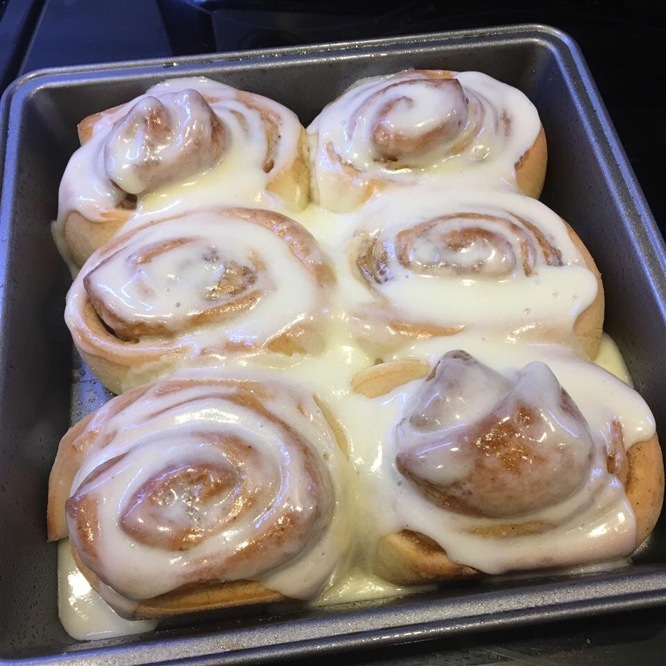 Soft Moist And Gooey Cinnamon Buns Recipe Allrecipes
