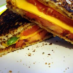 Grilled Cheese with Tomato, Peppers and Basil MBKRH