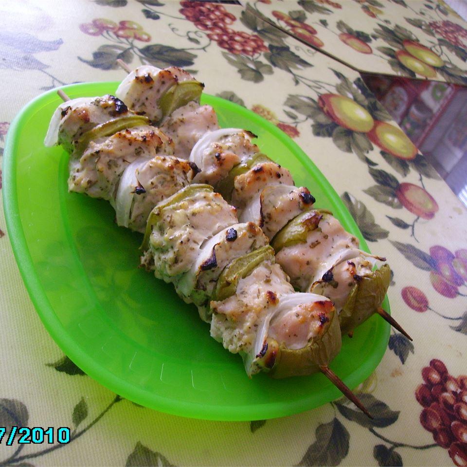 Marinated Greek Chicken Kabobs Christina