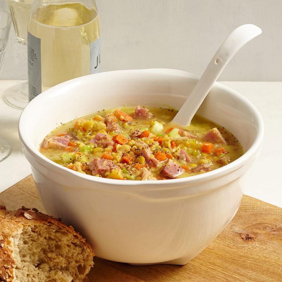 Swedish Yellow Split Pea Soup with Ham Jim Romanoff