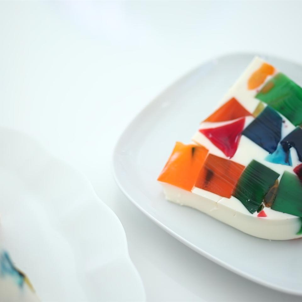 Stained Glass Gelatin Cake