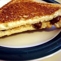 Peanut Butter Cup Grilled Sandwich