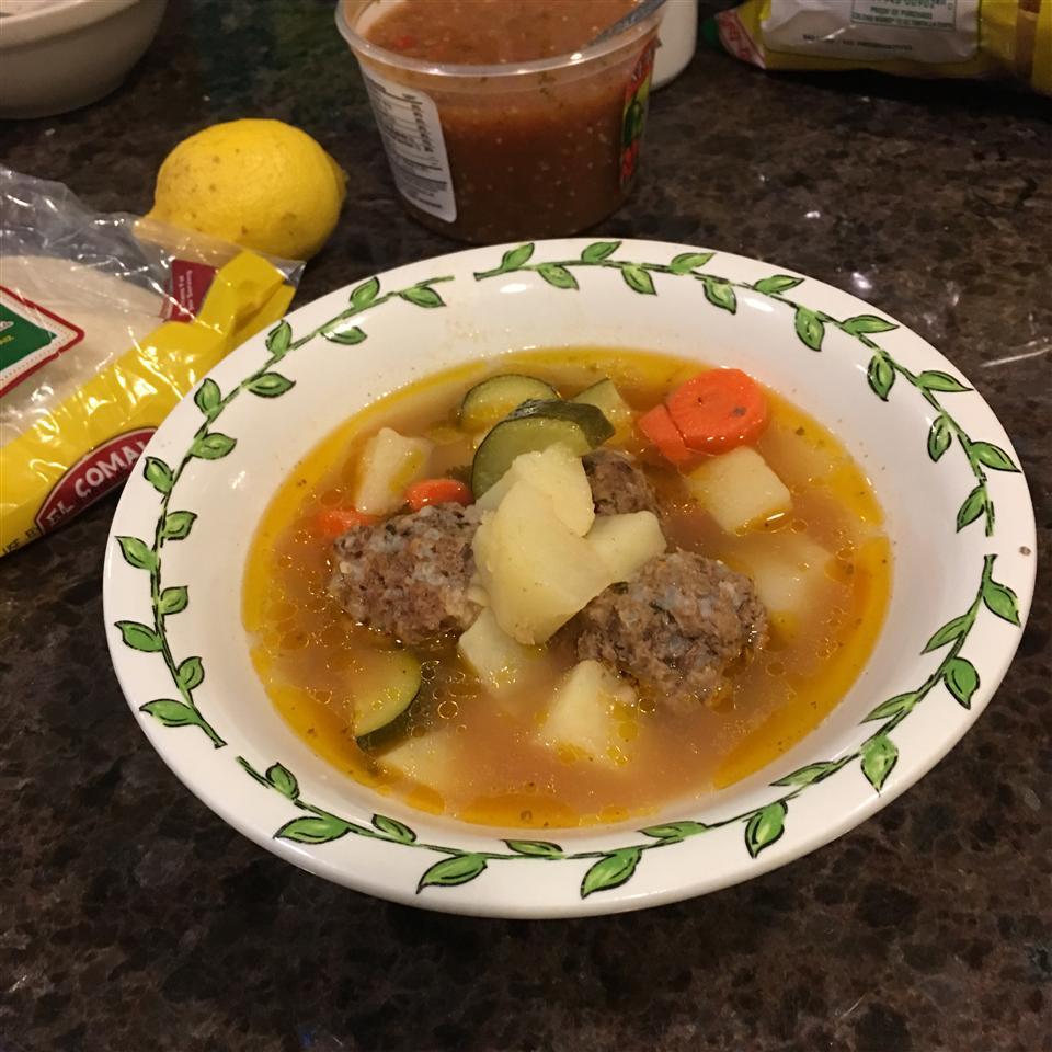 Homemade Albondigas Soup