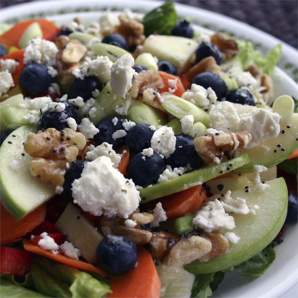 Rainbow Salad with Lemon Poppyseed Dressing
