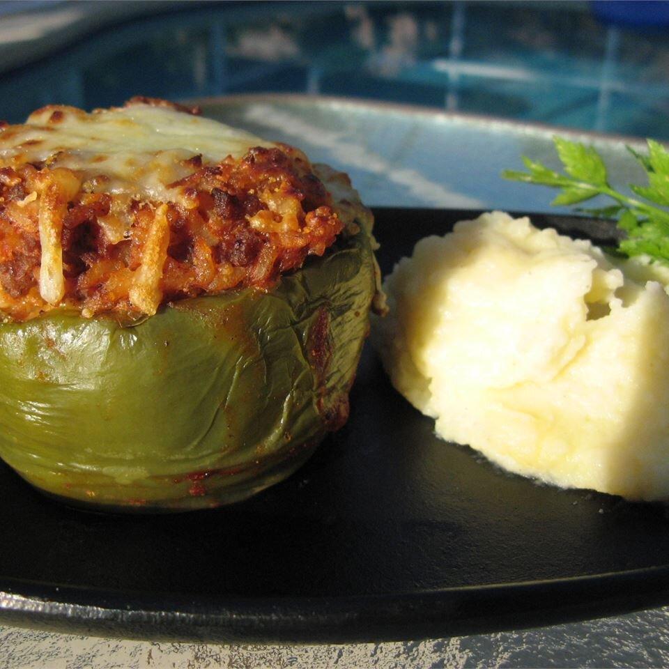 Kelsey S Favorite Stuffed Green Peppers Recipe Allrecipes