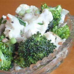 Zesty Broccoli and Cauliflower Salad