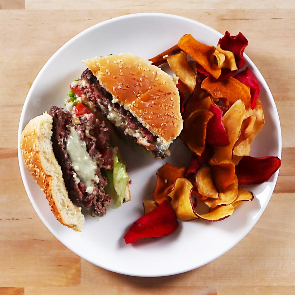 Blue Cheese Fig Burgers