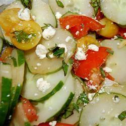Tomato, Basil, and Feta Salad My4boys