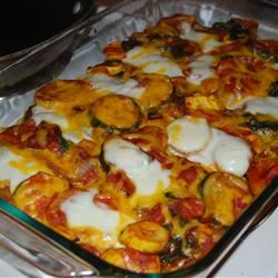Italian Summer Squash Polenta Bake