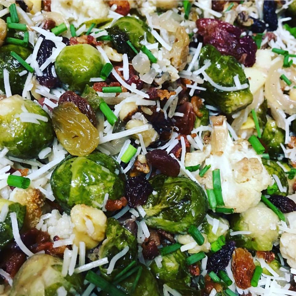 Roasted Brussels Sprouts with Apples, Golden Raisins, and Walnuts Kerri Davis
