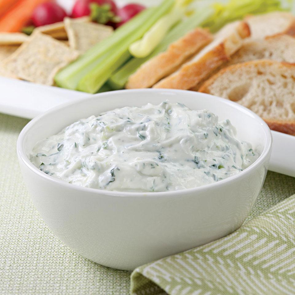 Herbed Yogurt Cheese EatingWell Test Kitchen