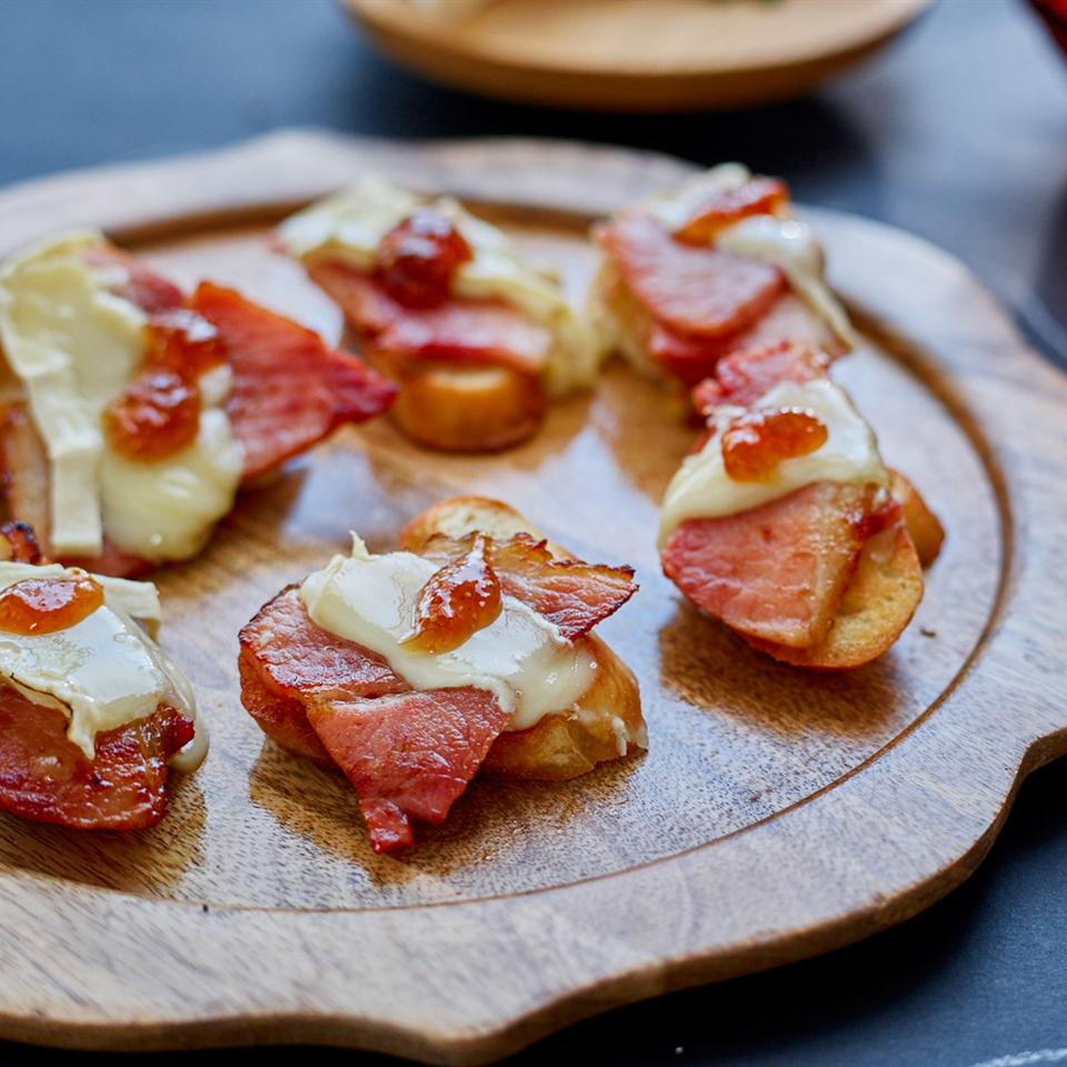 Ham and Brie Crostini with Fig Jam