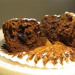 Fudgy Chocolate Chip Muffins WannaBeChef