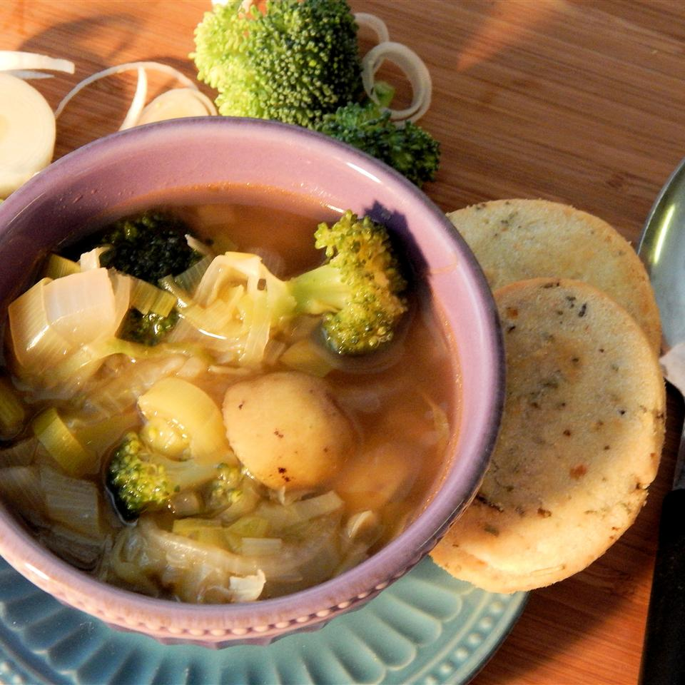 Cabbage, Leek, and Broccoli Soup