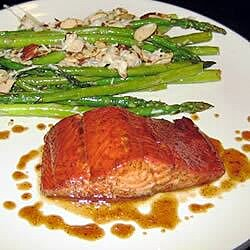 sweet and tangy glazed salmon recipe