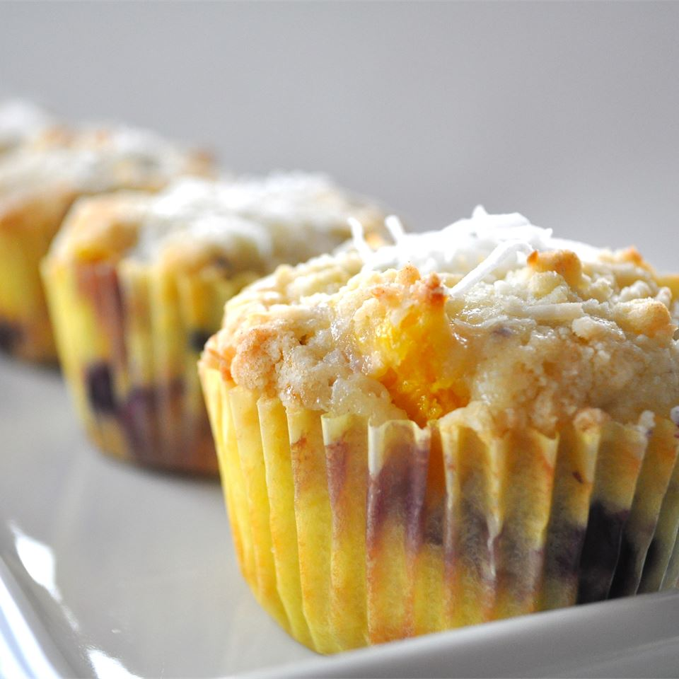 Mango Blueberry Muffins With Coconut Streusel Alberta Rose