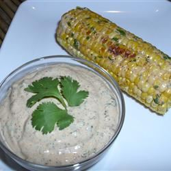 Sauteed Corn on the Cob With Chili-Lime-Cilantro Spread