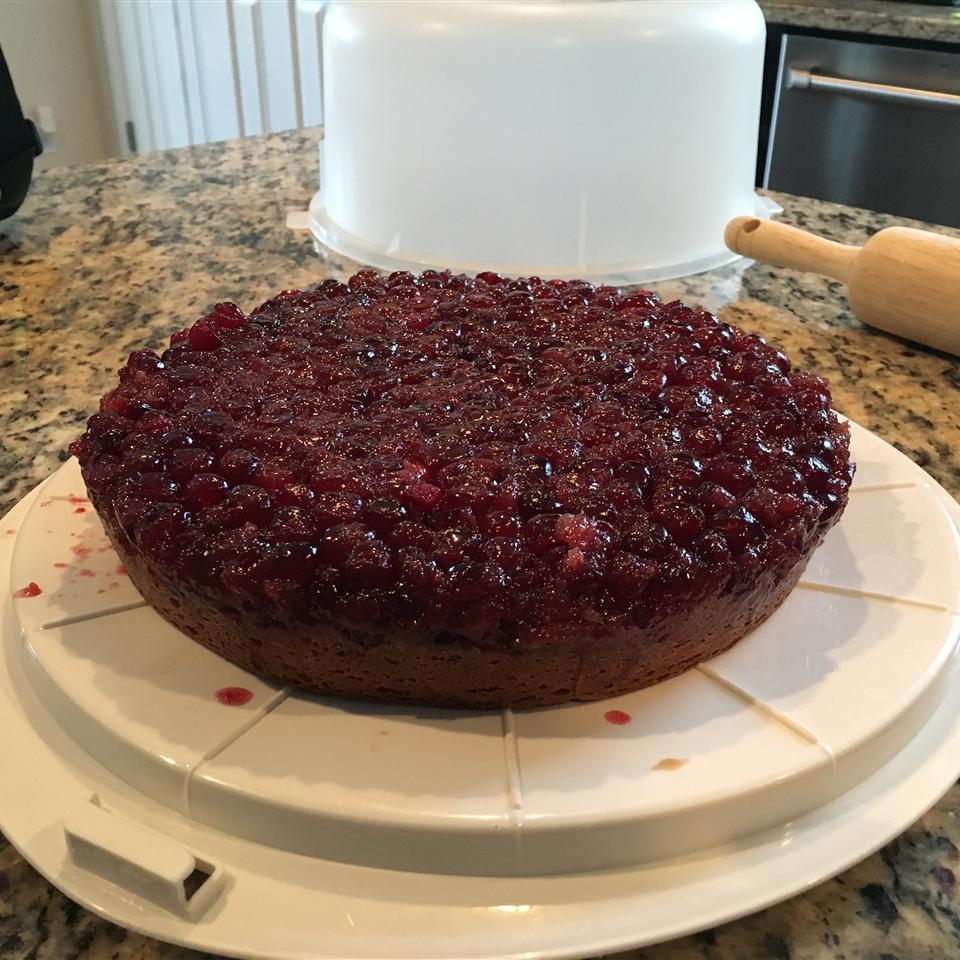 Cranberry Upside-Down Sour Cream Cake