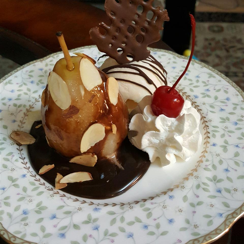 Poached Pears Belle Helene Mohammad Ehsan