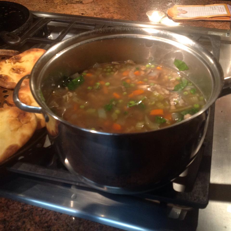 Hearty Barley Turkey Soup