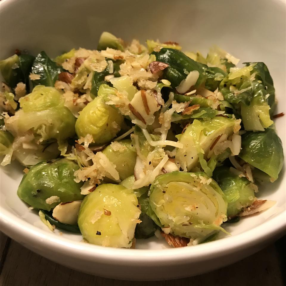 Brussels Sprouts with Toasted Almonds MJander