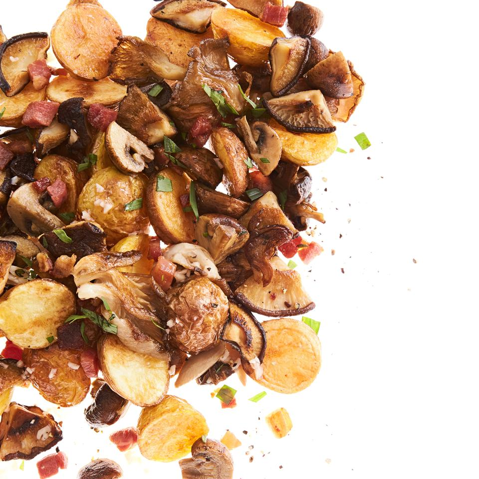 Roasted Wild Mushrooms and Potatoes Allrecipes Magazine