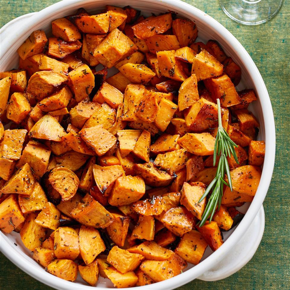 Honey and Rosemary Sweet Potatoes