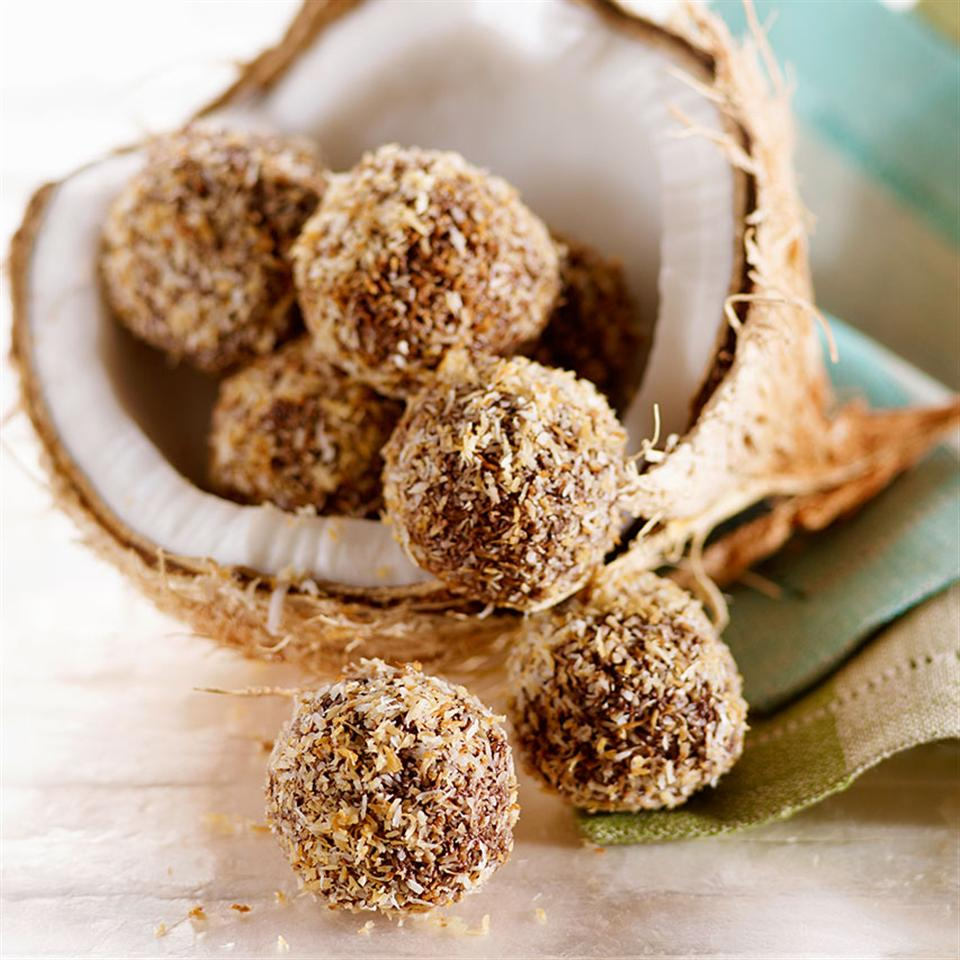 Coconut-Dark Chocolate Truffles Katie Webster