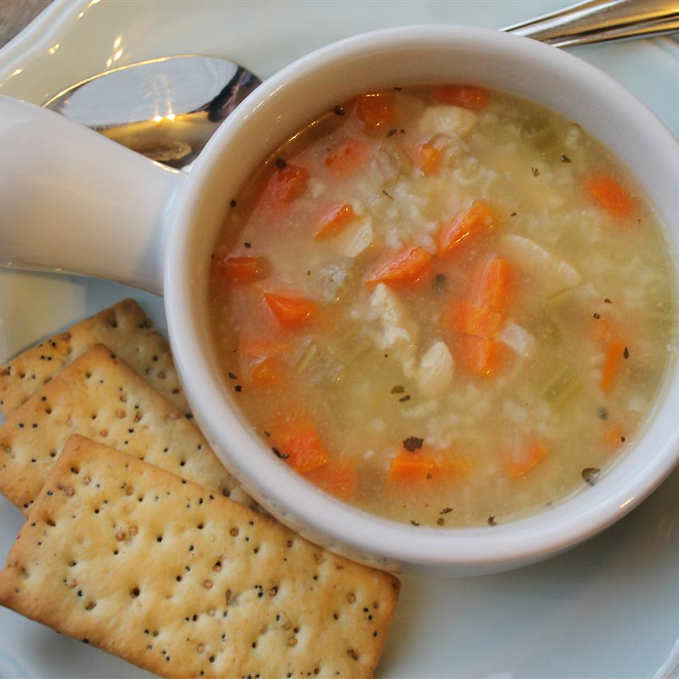 Chicken, Rice and Vegetable Soup Gary Coveney