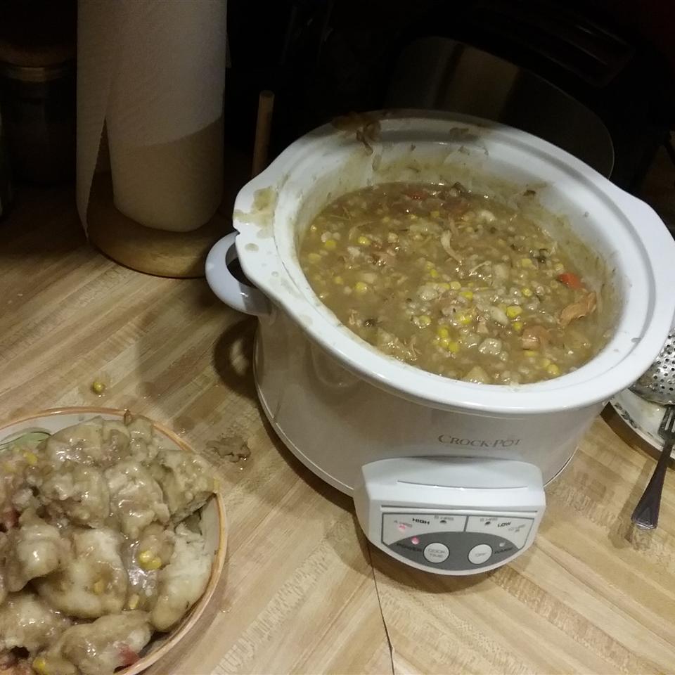 Slow Cooker Turkey Soup with Dumplings Cassandra1981