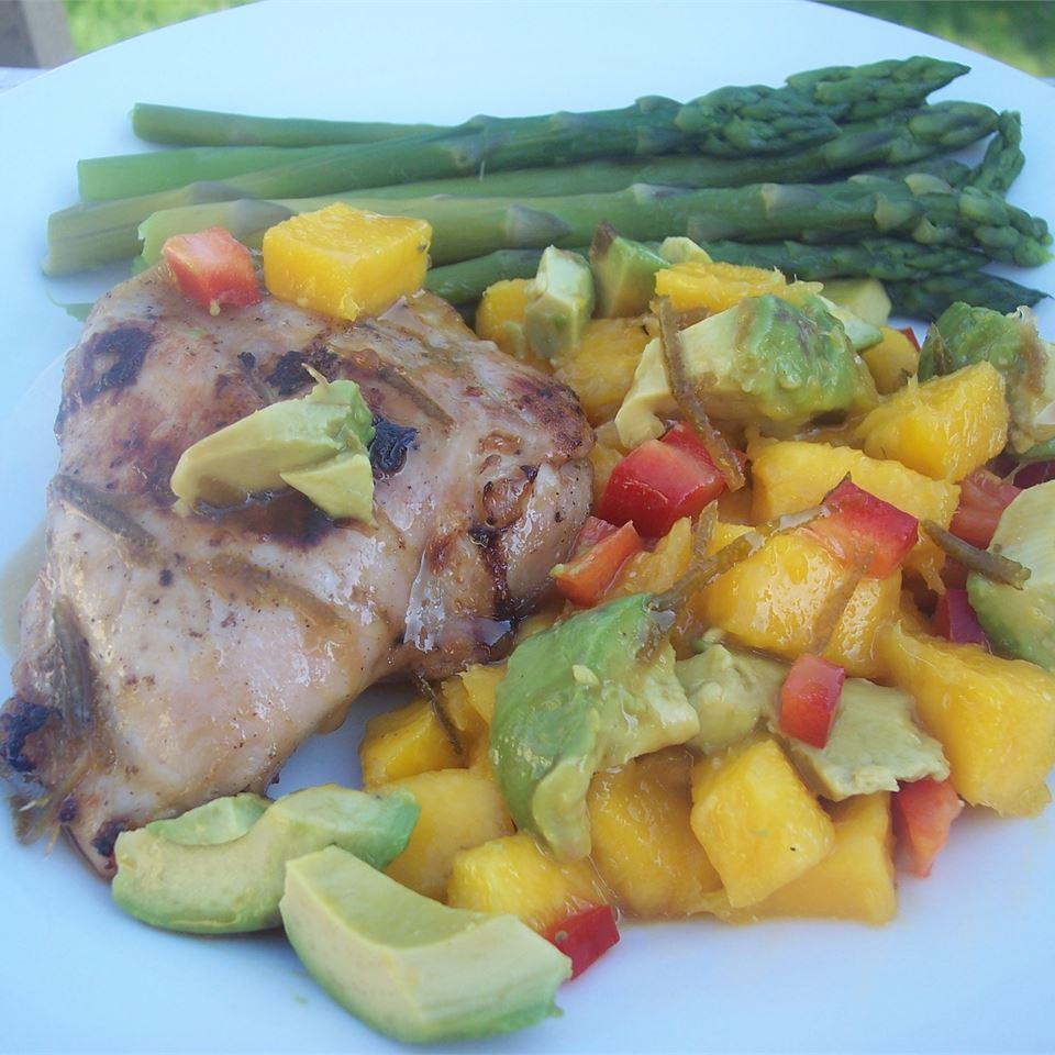 Spicy Cuban Mojo Chicken with Mango-Avocado Salsa Sarah-May
