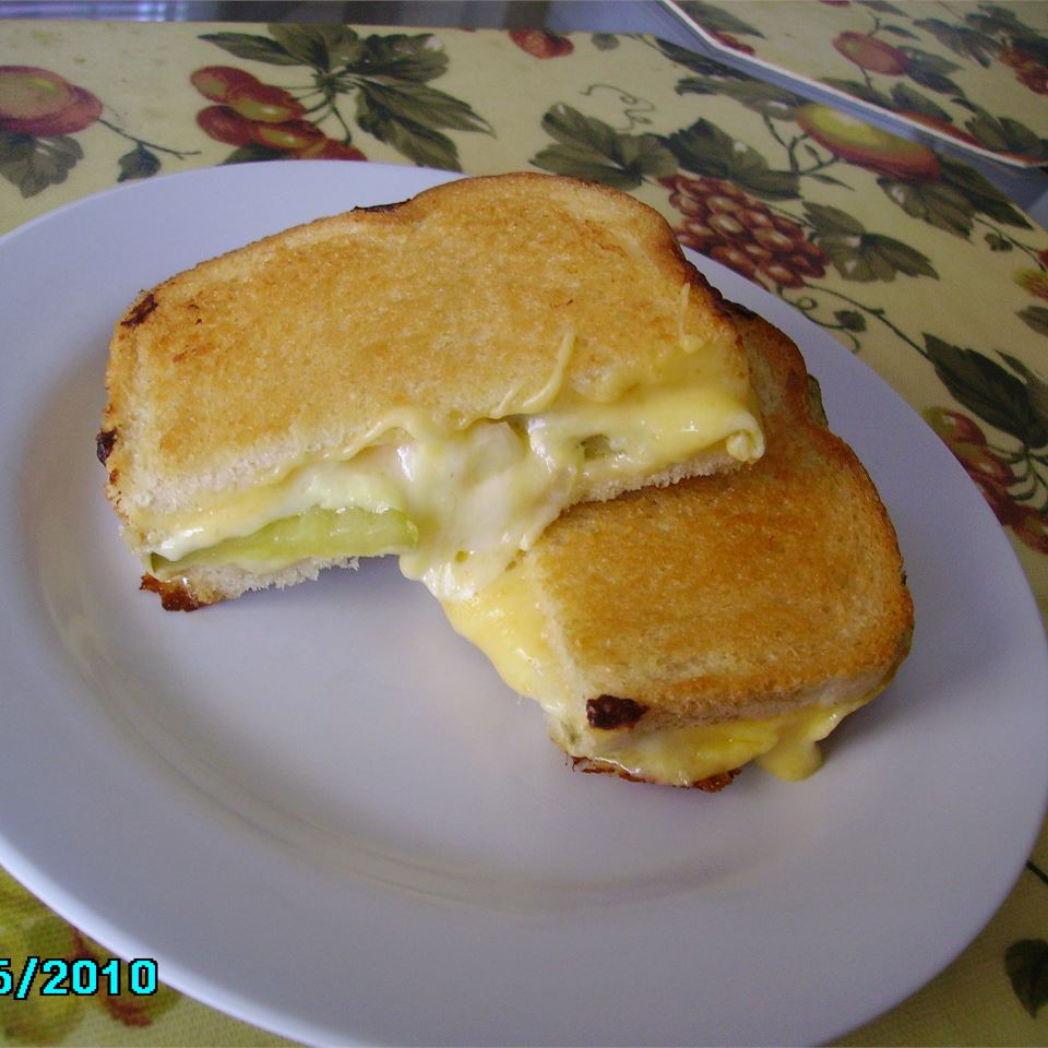 Grilled Cheese, Pickle and Vidalia Onion Sandwich Christina