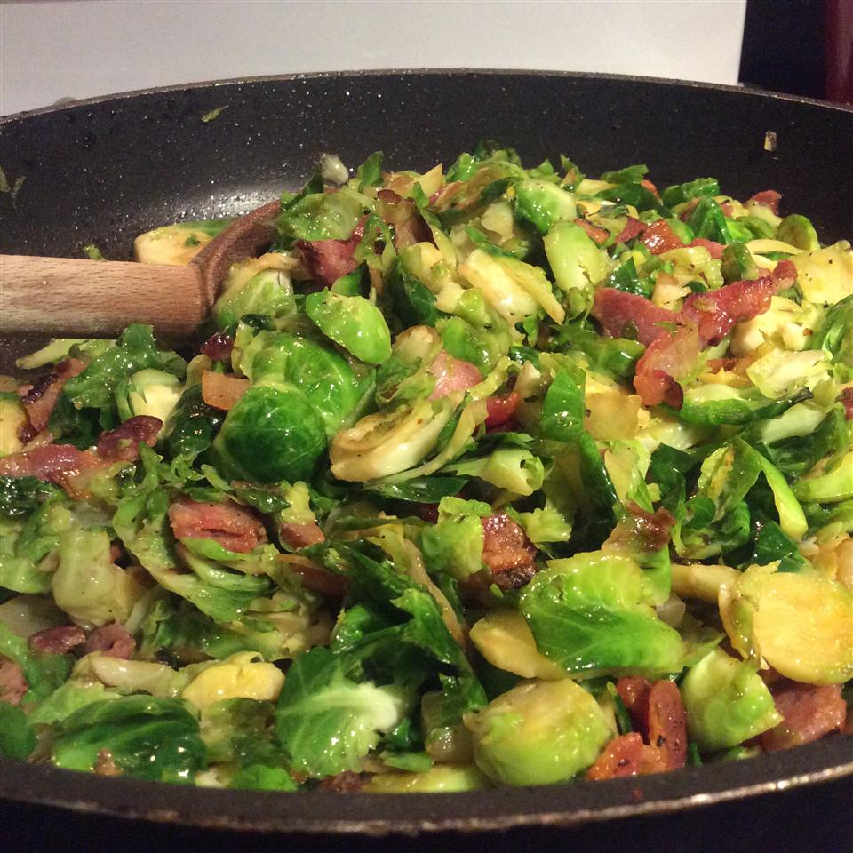Fried Brussels Sprouts landksmom