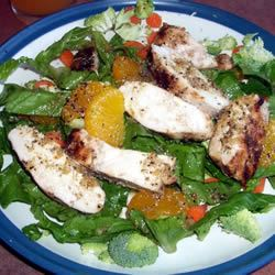 Grilled Orange Vinaigrette Chicken Salad jessicacooks