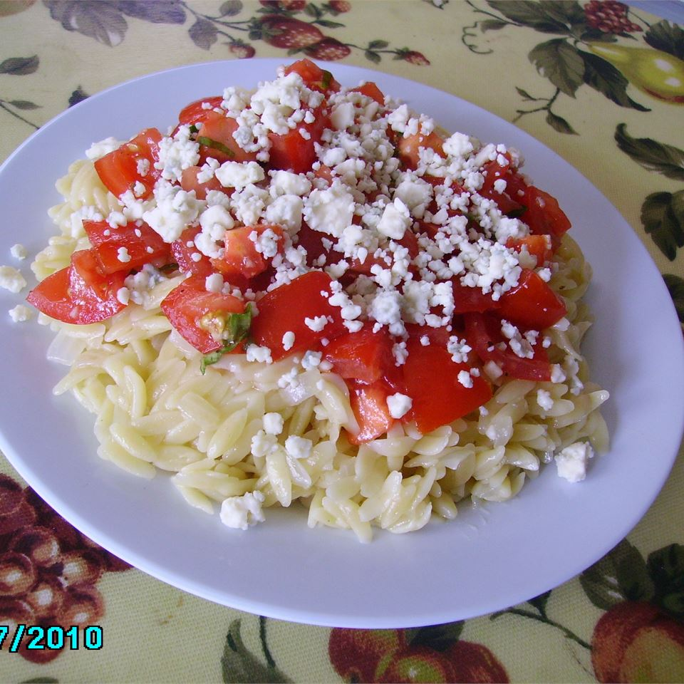 Orzo with Tomatoes, Basil, and Gorgonzola Christina