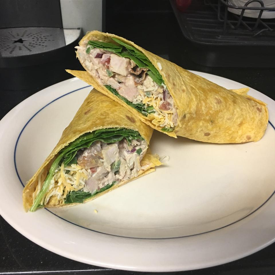 Spicy Turkey Salad Wraps fortydizzle