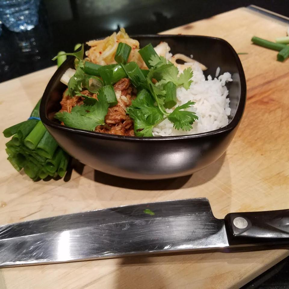Slow Cooker Korean BBQ Pork Bowl Clifford Hutson