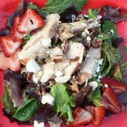 Grilled Chicken Salad with Seasonal Fruit MAMALEIGH