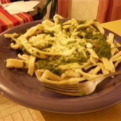 Pasta with Spinach Pesto Sauce xxpenguinscanfly