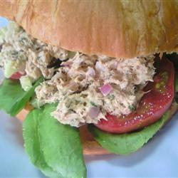 Carrie's Garlic Pesto Tuna Salad Sandwiches