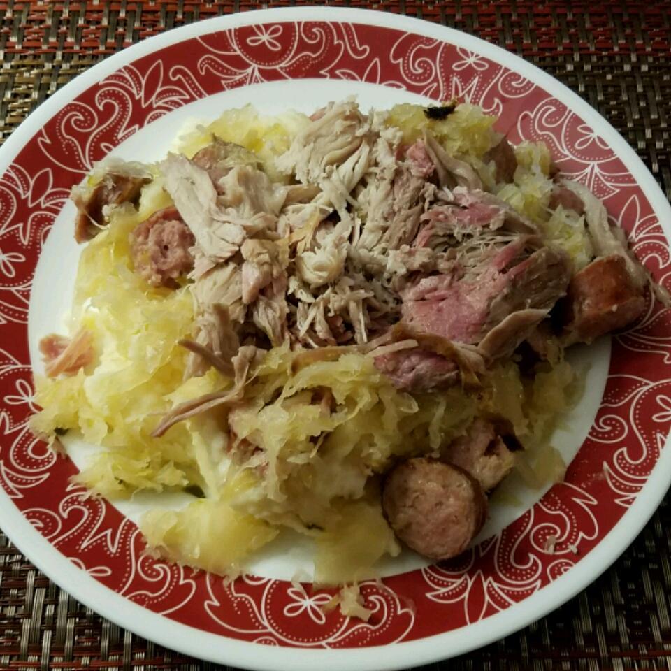 Pork Roast with Sauerkraut and Kielbasa Mari Anke